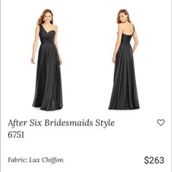 f4ed2df3c4 Black Lux Chiffon After Six Formal Dress Size 6